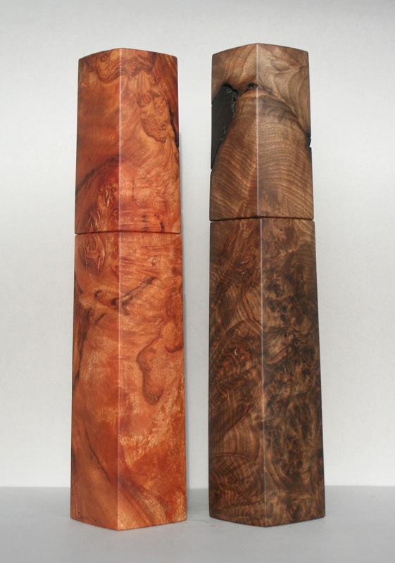 schöne Woodandform Salz- und Pfeffermühlen aus Holz - Weihnachtsgeschenke für Männer